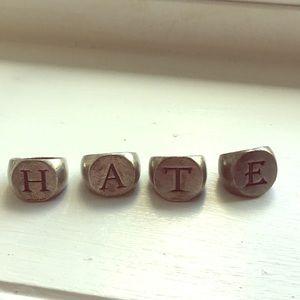 HATE ring set